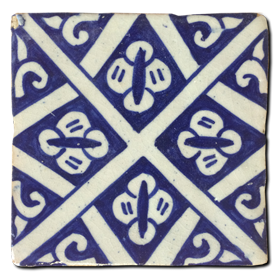 Hand painted tile Mod. Barcinas
