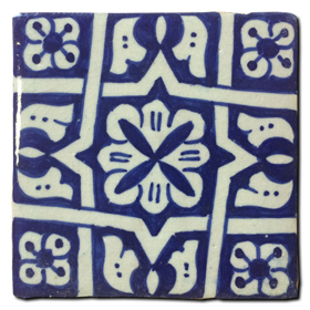 Hand painted tile Mod. Cozares