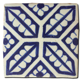 Hand painted tile Mod. Milanos