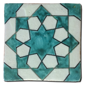 Hand painted tile Mod. Almaguer