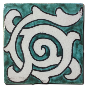 Hand painted tile Mod. Cuerva