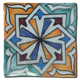 Hand painted tile Mod. Mocejón