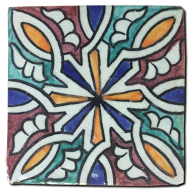 Hand painted tile Mod. Toboso